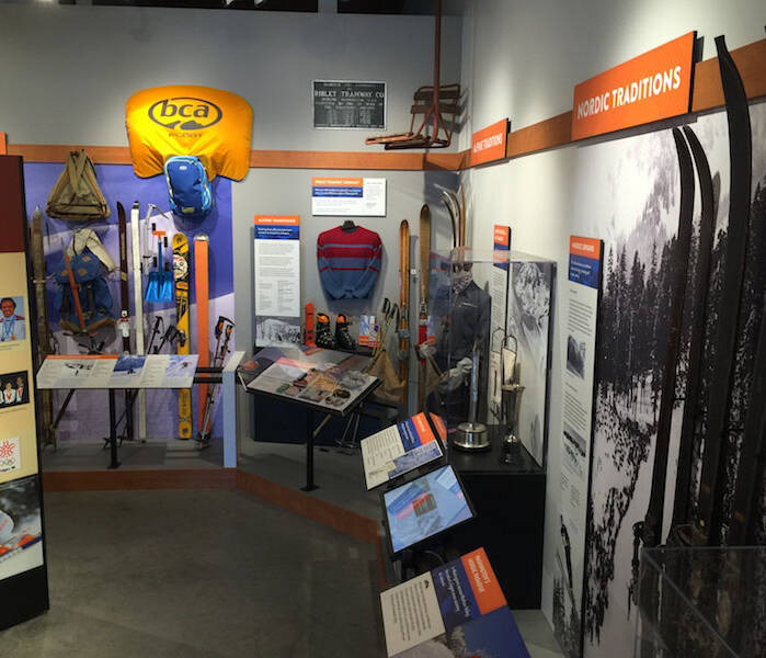 Nordic skiing exhibit & part of Ski Mountaineering exhibit.